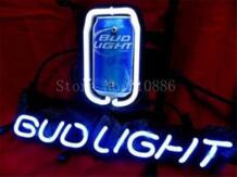 """Неоновая вывеска для американских Budweiser свет бутон пивной бренд Настоящее стеклянная трубка Пивной бар Паб Магазин отображение магазин легкие признаки 17*14"""" No name 32869785974"""