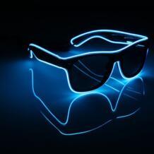 LED EL Провода Очки Light Up Glow Солнцезащитные очки для женщин очки Оттенки для ночного клуба и вечеринок Queen Xmas 32831163105