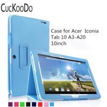 Folio искусственная кожа Slim Fit чехол для Acer Iconia Tab 10 a3-a20 10.1-дюймовый HD Планшеты (Acer Iconia Tab 10 a3-a20) CucKooDo 32361298222