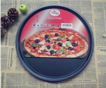 1 шт 12 дюймов углерода Сталь пиццы антипригарная круглая тарелка торт пицца лоток выпечка, Жарка формы легко извлечения из формы для выпечки JC 0503 EKqming 32856342158