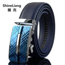 Мужской ремень Автоматическая пряжка кожа ширина см 110/120 см длина 130 см/3,5 см дизайнер высокого качества модный бренд черный синий ремень мужской shineliang 32244784010