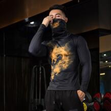 дышащий высокоэластичный анти-выцветание пуловер утягивающие футболки Быстросохнущий мужской фитнес-рубашка для езды на велосипеде футболка с длинными рукавами ZRCE 32910170569