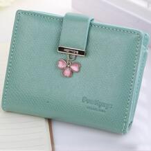 Новый цветок Для женщин бумажник Hasp сцепления сердце любовь Carteira Feminina Короткие Cluch молнии бумажник Prettyzys 32353527794