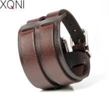 2017, Новая мода в ковбойском стиле стильная повязка натуральная Кожаные браслеты для Для мужчин высокое качество рыцарская храбрость облегающие амулетные браслеты. XQNI 32673511299
