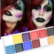 Фирменная Новинка 12 цветов краска для тела ed Oil color Drama клоун Хэллоуин Макияж для лица цвет высокого качества яркая краска для тела красивая kanbuder 32829897442