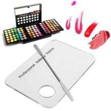 Акриловый косметический макияж смешивающий лоток для дизайна ногтей лак гель основа тени для век Палитра смешивания с лопаткой инструмент для крепления набор red dieny 32819690947