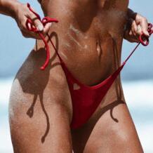 2017 простой дизайн женский купальник пикантный бикини стринги низ купальный костюм пуш-ап бразильский сплошной цвет бикини купальники keptfeet 32823324640