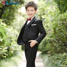 2019 Детские свадебные блейзеры для мальчиков, черные костюмы, приталенный Блейзер для мальчиков, стильные торжественные костюмы для мальчиков, праздничная одежда, одежда для мальчиков с цветочным принтом mikarause 32961869586