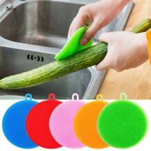 BXLYY силикагель обеззараживание щетка для мытья посуды Кухня металлическая губка фрукты и овощи Чистка Кухня изоляции Pad.7z No name 32966547117