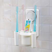 1 шт. Пластик Зубная щётка держатель на присоске туалетные принадлежности зубная паста держатели зубная щетка Контейнер товары для дома, ванной комплект No name 32816765269