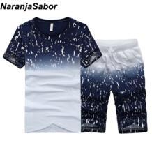новые летние мужские Шорты повседневные костюмы Спортивная мужская одежда мужские комплекты Брюки Мужская толстовка мужская брендовая одежда 4XL NaranjaSabor 32849683941