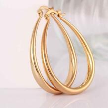 Модные дизайнерские желтые золотые/розовое золото цвет серьги средних размеров для женщин 4,4x3,4 см U форма серьги-кольца для женщин orecchini love KITEAL 32306398581