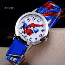 Лидер продаж, часы с изображением Человека паука, милые Мультяшные часы, детские часы с изображением Человека паука, резиновые кварцевые часы, подарок для детей, часы reloj montre relogio-in Детские наручные часы from Ручные часы on AliExpress Womage 32638518438