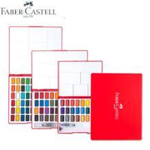 Faber-Castell 24/36/48 Цвета однотонные Рисование акварелью набор коробка с Кисть яркий Цвет Портативный воды Цвет набор краски BGLN 32834600038