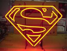 """17*14 """"Супермен логотип Железный человек неоновая вывеска остекленная Пивной бар PUB свет Признаки магазин дисплей ресторан магазин огни рекламы No name 32869861009"""
