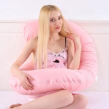Большой хлопок постельные принадлежности подушки для беременных женщин Подушка для беременных C-формы талии поддержки живота защиты для сна и кормящих No name 32868762626