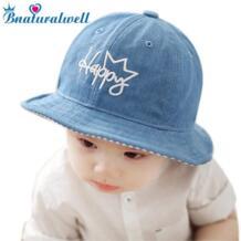 для маленьких мальчиков Панама для девочки солнце шляпа с полями Дети хлопок летняя Панама детские пляжные Кепки летняя бейсболка H018D Bnaturalwell 32856109551