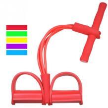 4 трубки сильной Фитнес Эспандеры латекс педаль тренажер Для женщин Для мужчин сидеть тянуть канаты Yoga Фитнес оборудовать Для мужчин футболка Tic стопы TONQUU 32748682406