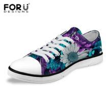/модные женские туфли с низким берцем парусиновая обувь классические женские цветочным узором Вулканизированная обувь женская повседневная обувь женские кроссовки FORUDESIGNS 32788264468