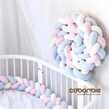 300 см Детские плетеные кроватки бамперы узел подушка, детские постельные принадлежности, детская кроватка dector cobarbie 32858776246