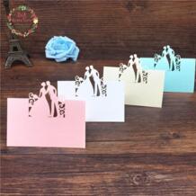 Большие слышал любовь 40 шт. Жених и невеста лазерная резка место карты свадебные имя карты имя гостя места карты свадьба украшение стола Big Heard Love 32807689968