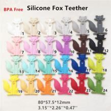 5 шт. BPA бесплатно безопасный силикон Fox Прорезыватель кулон DIY кормящих Цепочки и ожерелья для Соски манекен сенсорная игрушка прорезывания зубов Gfit CHENKAI 32812203100