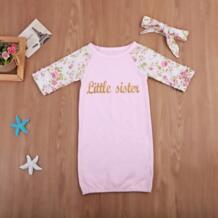 Новорожденных взять домой наряд для маленьких девочек Little Sister подарок для маленьких девочек комплект детское платье No name 32864117914