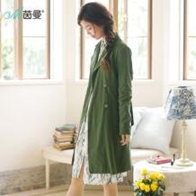 Женское весеннее приталенное пальто средней длины с цветочным принтом INMAN 32813887458