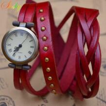 Shsby новый Рома старинные коровьей спирально ремешок для часов римскими цифрами Плетение кос часы женщины кожаный ремешок часы No name 1548962276