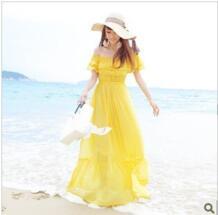 2018 Лето высокое качество шифона богемное платье, Пляжное платье, модные платья для женщин большие размеры No name 817206795