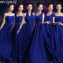QNZL02 #2018 Весна-осень длинные на шнуровке royalblue шифон нарядные платья Свадебная вечеринка платье для выпускного вечера женская одежда оптом WY.QJR.FZ 32860715944