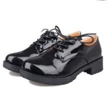 Новые весенние в Корейском стиле Для женщин Обувь шнурованная для женщин модные ботильоны со шнуровкой британский стиль ретро леди Обувь сладкий Туфли без каблуков женские Обувь HK No name 32261307441