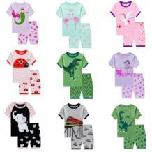 Детские повседневные хлопковые Пижамные комплекты для девочек, пижамы с героями мультфильмов, детская одежда для сна, комплекты домашней одежды, пижамы для мальчиков, От 2 до 7 лет XZKAMI 32860471856