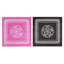 49x49 см Пентакль скатерть Таро нетканые игры Карточная игра текстиль Высокое качество OOTDTY 32895125752