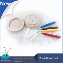Последние часы инструмент для ремонта Часы drop масленка набор, plasct часы масло блюдо с 4 шт. масла-pin для Часовщик подготовки WRTOR 32589185677