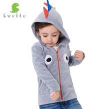 Бренд для мальчиков милый стиль из флиса динозавры для игр толстовка с капюшоном для детей вышивка на груди куртка с капюшоном SVELTE 32708035955