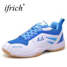 Ifrich бадминтон обувь для Для мужчин Для женщин синий желтый пары кроссовки для теннисных тренировок противоскользящие Мужская обувь для бадминтона Спорт No name 32836480371
