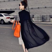 Длинный свитер пальто женский длинный кардиган Feminino летний корейский винтажный вязаный длинный рукав черно-белая куртка одежда оверсайз AISIDE 32656428754