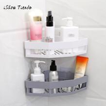 Пластиковая присоска для ванной комнаты кухня угловая стойка для хранения Органайзер многоцелевой душ Шампунь мыло Косметическая полка держатель ISHOWTIENDA 32878187117