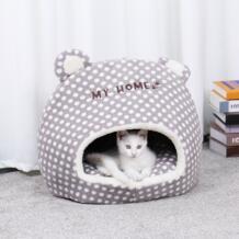 Бесплатная доставка милый домик для домашних животных корзина для кошек Маленький Средний щенок мусорная собака кровать для отдыха для животных Cama домашняя будка пещера Speedy pet 32898750523