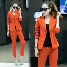 Модный стиль Новый маленький костюм 2017 Осень корейский женский самовыращивание два предмета/комплект костюм Z&I 32835671313