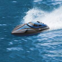 Высокая Скорость Skytech H100 жестокие 2,4 ГГц 4 канала 30 км/ч гонки дистанционного Управление лодка с ЖК-дисплей Экран игрушка для детей лучший подарок Virhuck 32817153631