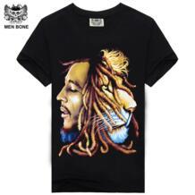 2015 высокое качество Боб Марли футболки тренд печать на заказ регггя дизайн для мужчин футболки Винтаж Рокерская Футболка Длинная для свободы Men bone 2023936718