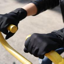 Осенне-зимние импортные товары, мужские и женские уличные перчатки для бега, ветрозащитные флисовые теплые перчатки, оптовая продажа No name 32919238631