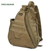 Тактическая сумка на плечо, для путешественников рюкзак с одной лямкой, для путешествий и походов , подъема в горы 1000D нейлон Free Soldier 1154414087