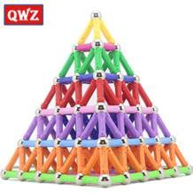 QWZ магнитные игрушки бары и металлические шарики магнитные строительные блоки строительные игрушки для детей DIY дизайнерские Развивающие игрушки для детей No name 32858141656