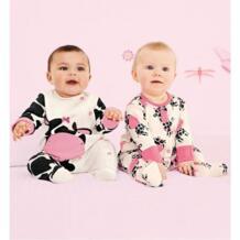 Белый молока комплект одежды для малышей с длинным рукавом Младенцы Спортивный костюм для девочек 100% хлопок мягкий преждевременной Костюмы новорожденных комбинезон покрытие для ног No name 32866410000