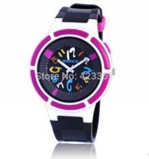 Для мальчиков и девочек спортивные часы Водонепроницаемый 100 м светодиодный свет аналоговые кварцевые Плавание часы детские спортивные часы унисекс No name 874417147