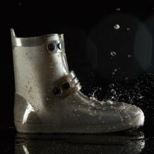Водонепроницаемые рыбацкие сапоги с высоким подъемом покрытие для обуви из ПВХ цельная форма унисекс двубортная многоразовая обувь для дождливой погоды противоизносное оборудование High-Jump 32918432287