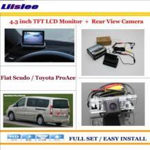 """для Fiat Scudo/для Toyota проаки автомобиля обратный резервный заднего Камера + 4.3 """"TFT ЖК-дисплей Экран Мониторы = 2 в 1 парковка Системы Liislee 32580811526"""